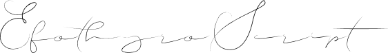Preview image for EfothyroScript Font