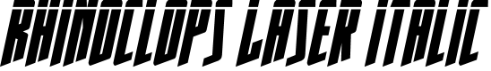 Preview image for Rhinoclops Laser Italic