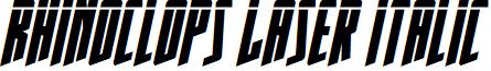 Rhinoclops Laser Italic