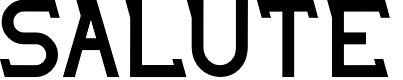 Preview image for SALUTE Font