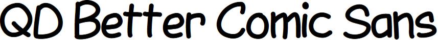 Preview image for QDBetterComicSans Font