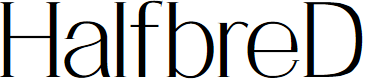Preview image for HalfbreD Font