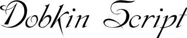 Preview image for Dobkin Script Font
