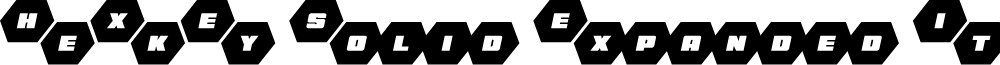 HeXkEy Solid Expanded Italic