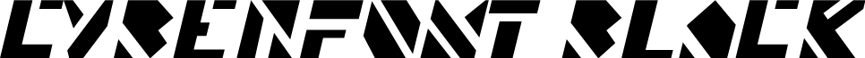 CyberFont Black