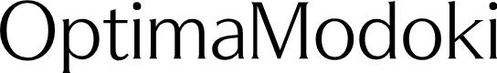Preview image for OptimaModoki Font