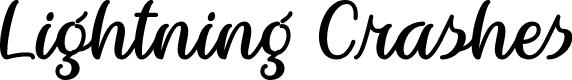 Preview image for Lightning Crashes Regular Font