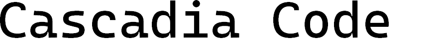 Preview image for Cascadia Code Font