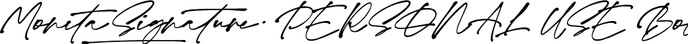 Monita Signature PERSONAL USE Bold Italic