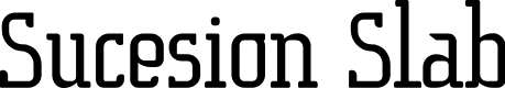 Preview image for SucesionSlab-Regular Font