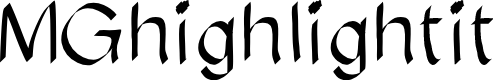Preview image for MGhighlightit Font
