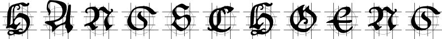 Preview image for HansSchoensCapsInGrid Font