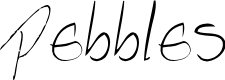 Preview image for  Pebbles handwrite Font