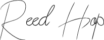 Preview image for Reed Hop Font