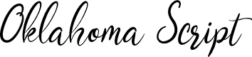 Preview image for Oklahoma Script Font