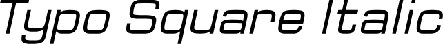 Typo Square Italic Demo