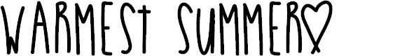 Preview image for WarmestSummer Font
