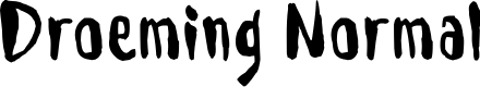 Preview image for Droeming Normal Font