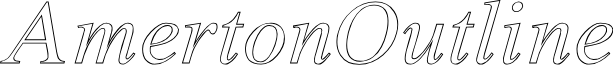 Amerton Outline Italic
