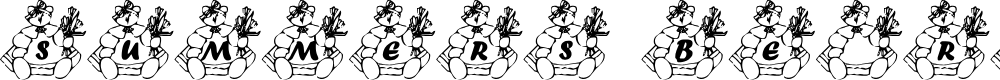 Preview image for Summer's BearyFloral Font