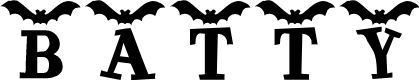 Preview image for KR Batty Font