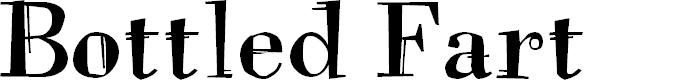 Preview image for Bottled Fart Font