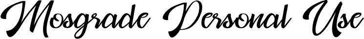 Preview image for Mosgrade Personal Use Font