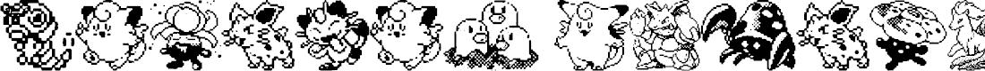 Preview image for Pokemon pixels 1 Font