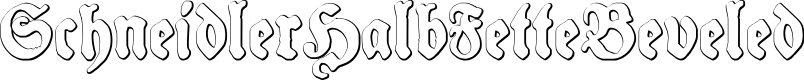 Preview image for SchneidlerHalbFetteBeveled Font