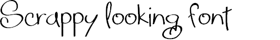 Preview image for Scrappy looking demo Font