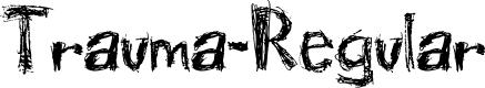 Preview image for Trauma-Regular Font