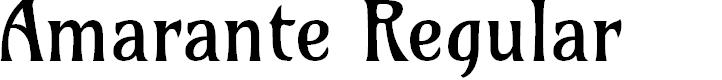 Preview image for Amarante Regular Font