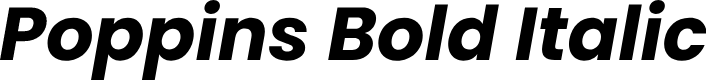 Preview image for Poppins Bold Italic