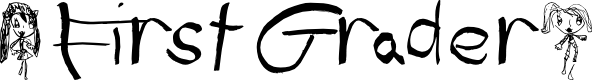 Preview image for (First Grader) Font