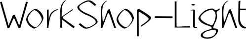Preview image for WorkShop-Light Font