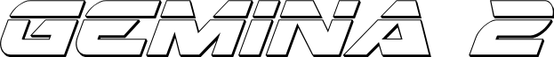 Gemina 2 Laser 3D Italic