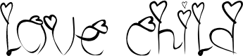Preview image for love child Font