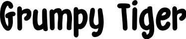 Preview image for DK Grumpy Tiger Regular Font
