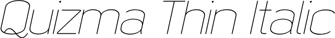 Preview image for Quizma Thin Italic Demo