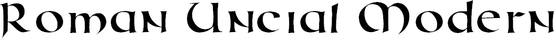 Preview image for RomanUncialModern Font