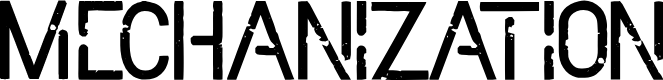 Preview image for Mechanization Font
