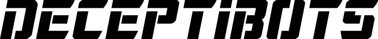 Preview image for Deceptibots Semi-Italic