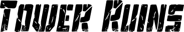 Tower Ruins Condensed Italic