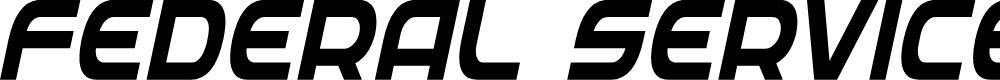 Preview image for Federal Service Semi-Bold Condensed Italic