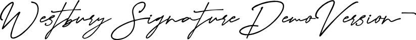 Preview image for WestburySignatureDemoVersion- Font