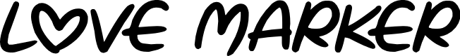 Preview image for Love Marker Font
