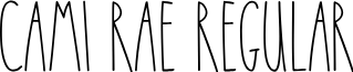Cami Rae Regular font