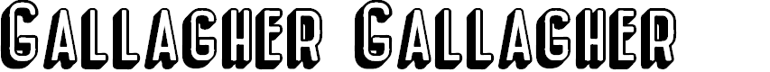 Preview image for Gallagher Gallagher Font