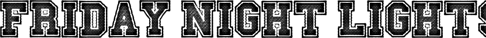 Preview image for Friday Night Lights Font