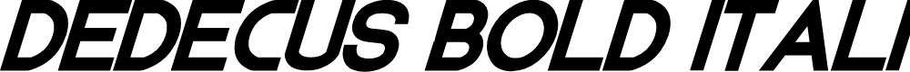 Preview image for Dedecus Bold Italic Font